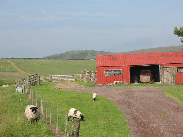 Red barn at Wooler Common