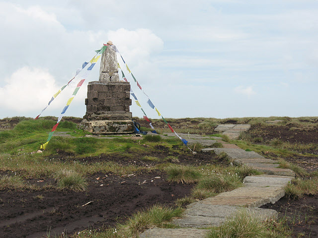 Cheviot summit with prayer flags