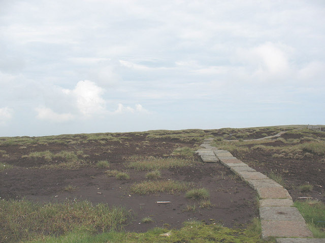 Causeway across the Cheviot plateau