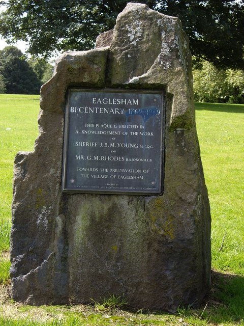 Eaglesham Bi-centenary memorial stone