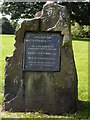NS5752 : Eaglesham Bi-centenary memorial stone by Kenneth Mallard