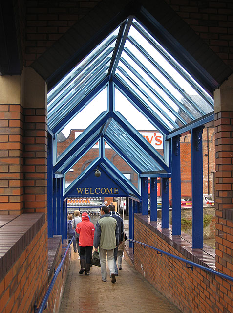 Covered walkway on a rainy Saturday, The Maltings