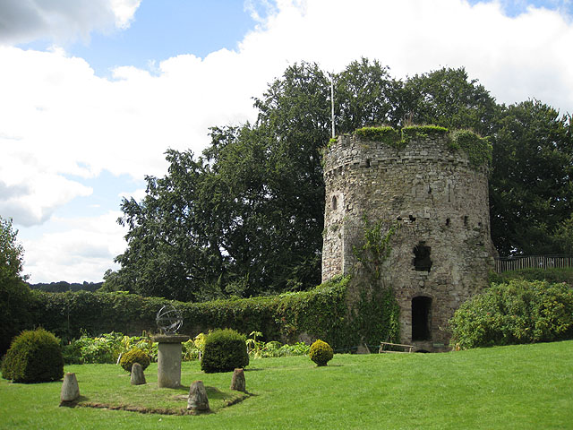 Garrison Tower and sundial, Usk Castle