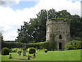 SO3701 : Garrison Tower and sundial, Usk Castle by Pauline Eccles