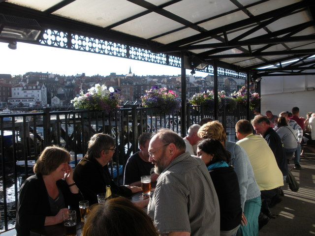 Drinking terrace at the back of the hayley green for 2 west terrace whitby