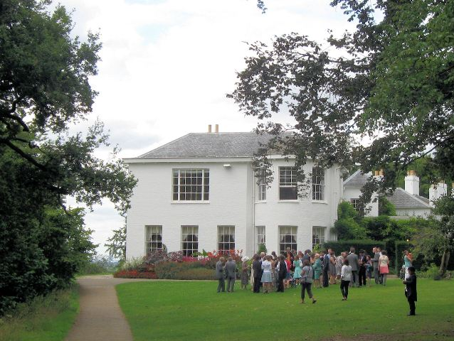 Wedding Party outside the Georgian Wing Pembroke Lodge