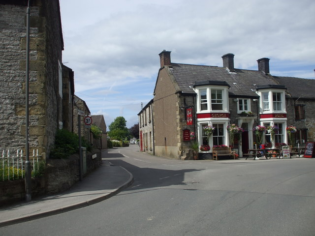 George Hotel and Conksbury Lane, Youlgreave, Derbyshire