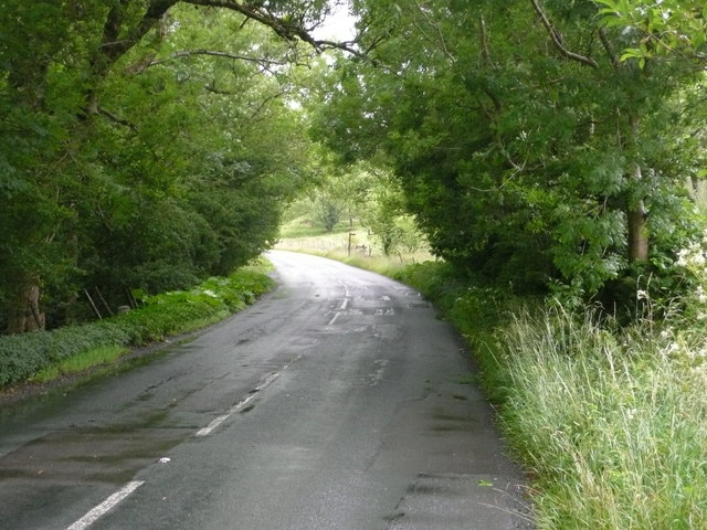 A683 just north of Rawthey Bridge