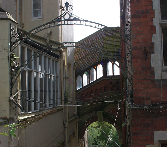 The Bridge of Sighs between the male and female lodgings