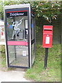 TM3463 : Telephone Box &amp; Main Street Postbox by Adrian Cable