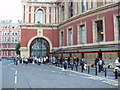 TQ2679 : Prom interval  - audience outside  the Albert Hall by David Hawgood