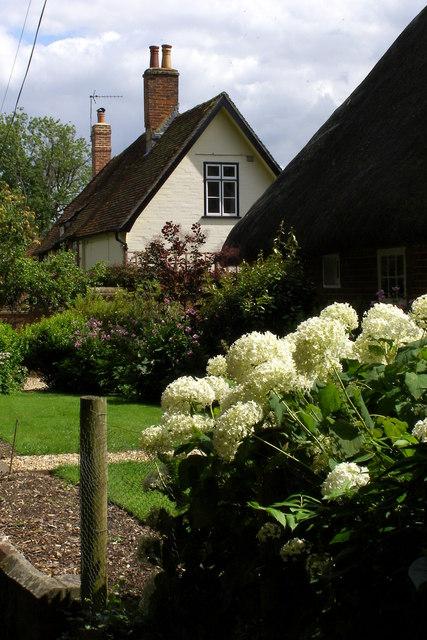 Cottages on Church Lane, Exton
