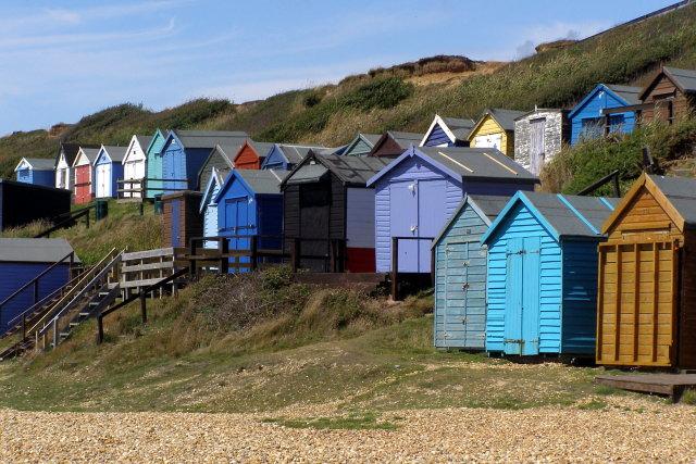 Beach huts, Milford on Sea