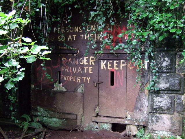 The sealed entrance to Scoveston Fort