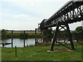 SK8163 : Besthorpe Quarry jetty by Alan Murray-Rust