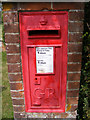 TM3959 : George V Postbox Church Common by Adrian Cable