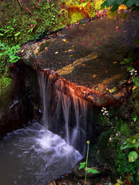Illuminated Waterfall