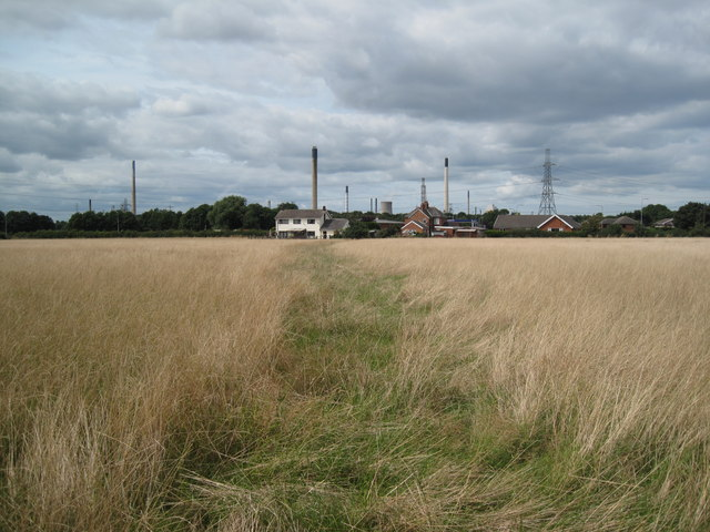 Footpath, Houses and Stanlow