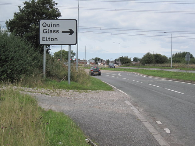 Signpost to Elton and Quinn Glass