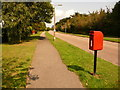 SZ1993 : Christchurch: postbox № BH23 65, Hoburne Lane by Chris Downer