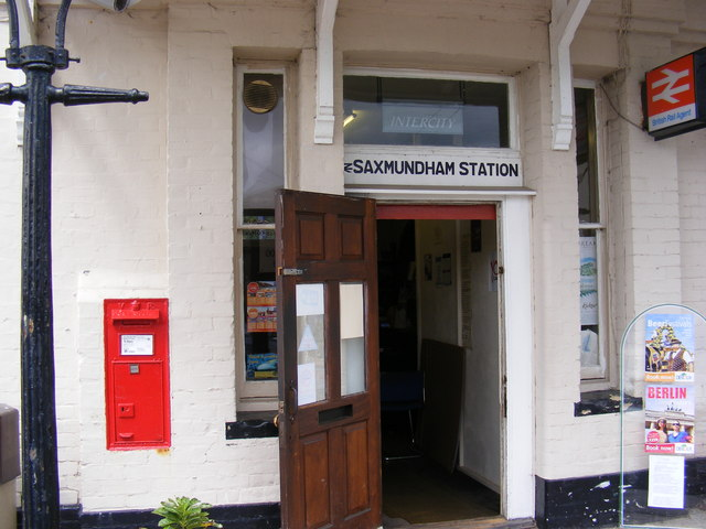 Railway Station Victorian Postbox