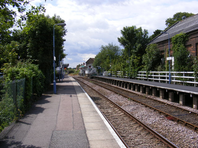 Platform at Saxmundham Railway Station