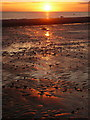 NX1897 : Sunset reflected on the sands at Girvan : Week 31