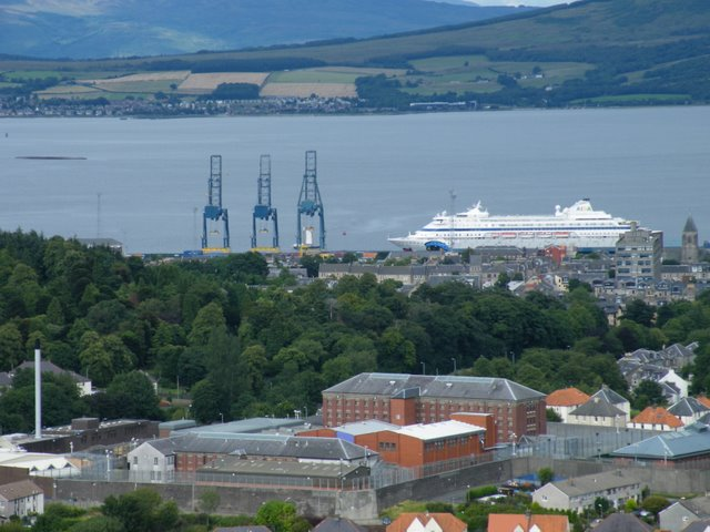 Greenock Prison and the River Clyde