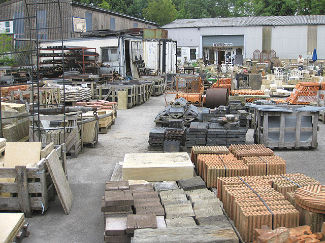 Showroom at the reclamation yard pauline e geograph britain and ireland for Home architectural salvage yards