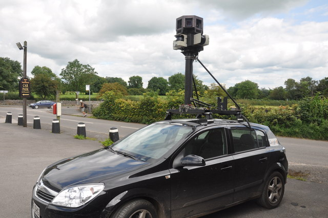 Google street view camera visits Peak District