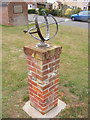 TM4267 : Sculpture on Middleton Village Green by Adrian Cable