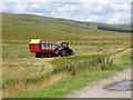 NY6195 : Collecting grass for silage on the edge of Bells Moor : Week 32