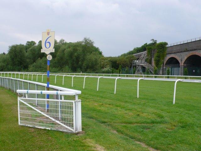 Chester racecourse 6 Furlong marker
