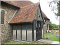 TL4311 : St Mary, Little Parndon - porch by Stephen Craven