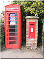 TM4770 : Telephone Box &St.James Street George VI Postbox by Adrian Cable