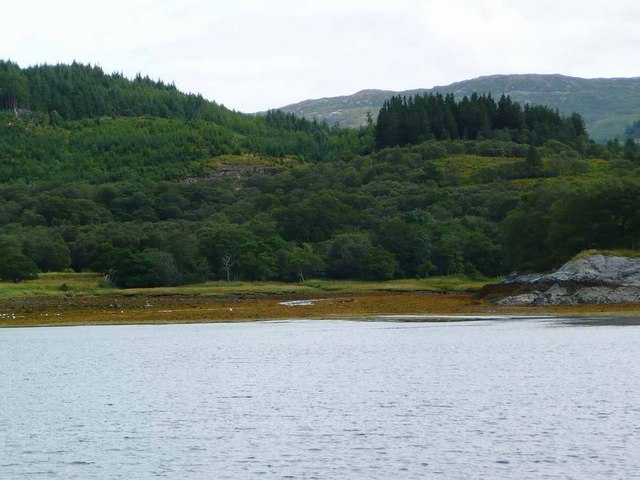 The Glencripesdale Burn reached Loch Sunart