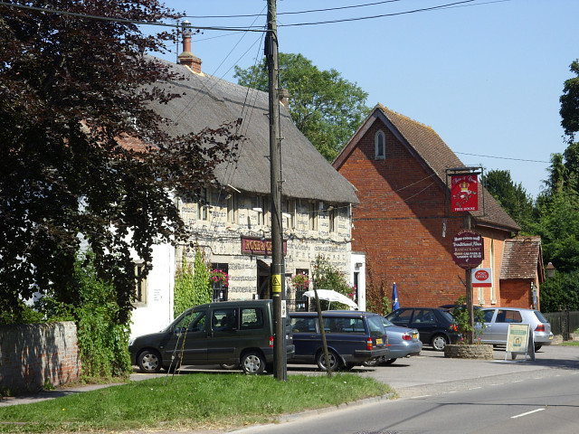 Rose and Crown pub and post office, Tilshead