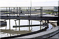 TQ7686 : Benfleet Sewage Treatment Plant: Primary Settling Tanks by John Rostron