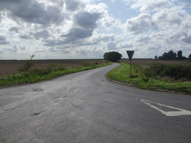 Road junction at Black Walk Nook