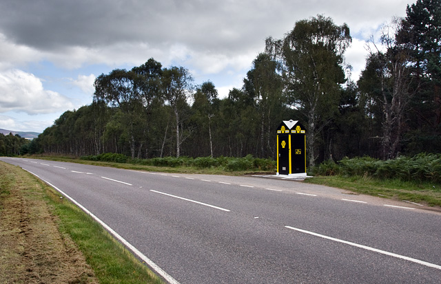 The AA box at Cambus O'May after restoration.