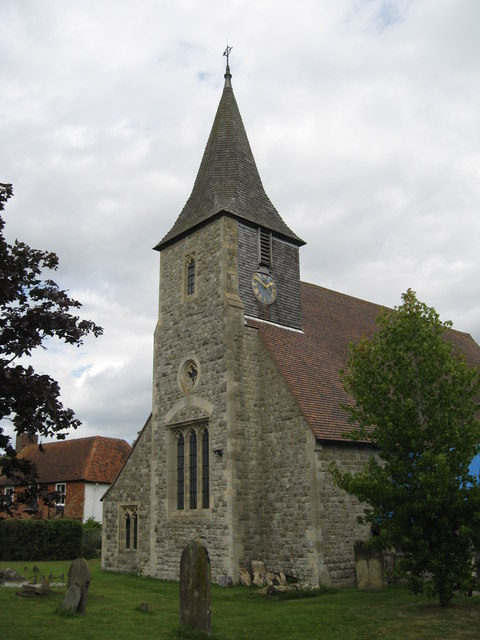 Tower and spire, St Mary the Virgin Church  Horne, Surrey