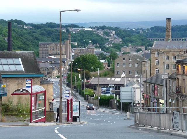 View down Chapel Hill, Huddersfield