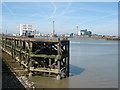 TQ4379 : Old jetty on the Thames at Woolwich by Stephen Craven