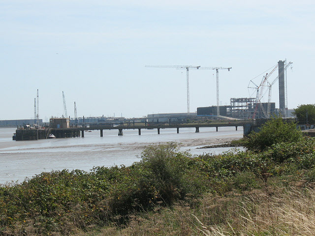 Construction site at Belvedere from a distance
