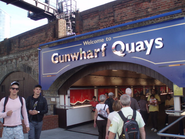 Entrance to Gunwharf Quays