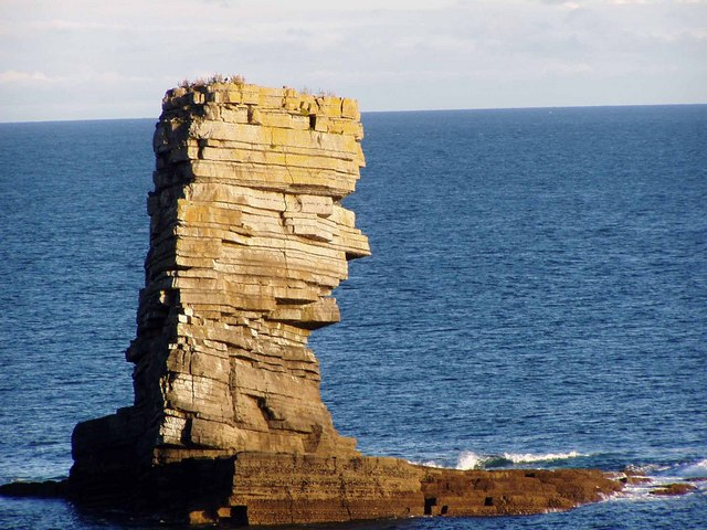 Coastal stack, east of Linney Head, S. Pembrokeshire.