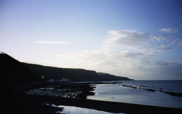 Evening at Burnmouth Bay