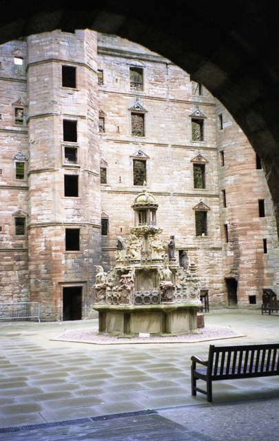 Fountain in the Courtyard of Linlithgow Palace