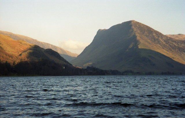 Across Buttermere towards Hassness and Fleetwith Pike