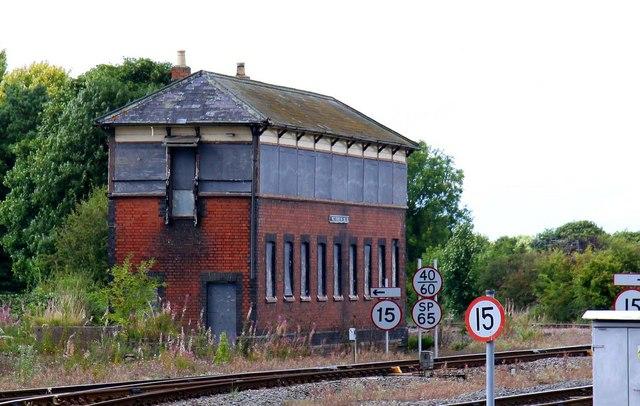 Disused signalbox at Princes Risborough